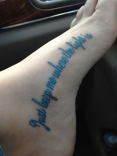 john mayer tattoo not the foot quot just keep me where the light is quot skin