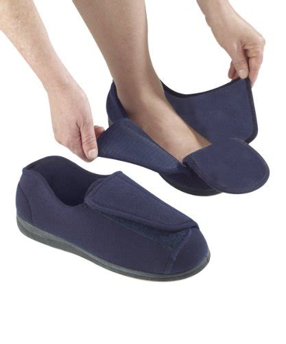 wide fitting slippers for the elderly mens wide slippers swollen velcro