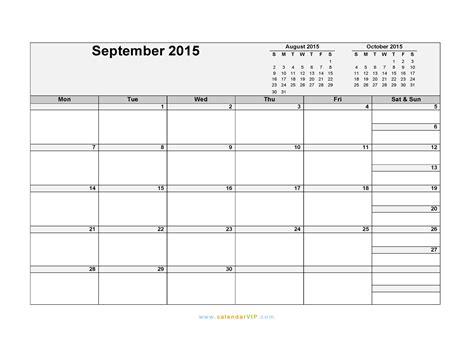 printable daily calendar september 2015 september 2015 calendar blank printable calendar