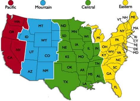 map of usa showing states and timezones mountain time zone 171 bargain villas cheap villa rental
