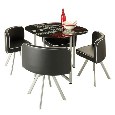 mesas y silla conjunto mesa y 4 sillas parme 350561 conforama