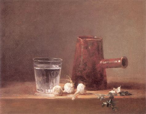Metal Jug Vase Water Glass C 1760 Jean Baptiste Simeon Chardin