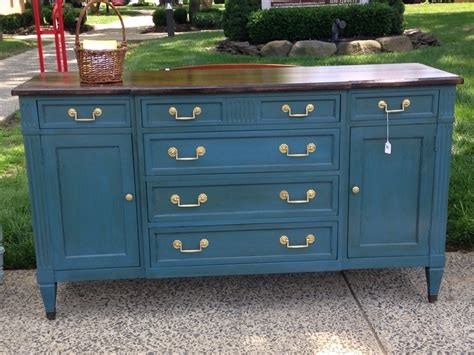 blue painted dresser sold deep blue chalk painted dresser buffet credenza with