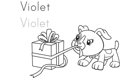 Violet Gets A Gift Coloring Page Leap Frog Coloring Pages