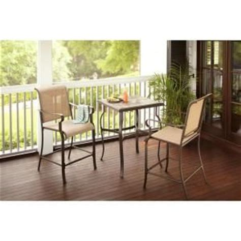 hton bay belleville 3 high patio dining set