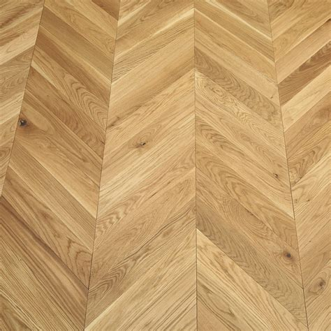Park Avenue Chevron Natural Oak Brushed & Oiled Solid Wood