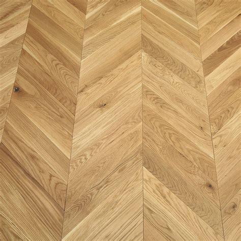 Park Avenue Chevron Natural Oak Brushed & Oiled Solid Wood