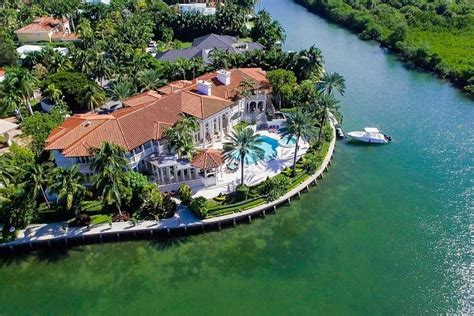 Huge Kitchen Islands key biscayne mansion asking 14m is one of the largest