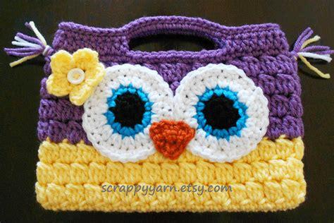 owl tote bag crochet pattern free crochet owl purse by scrappyyarn on etsy