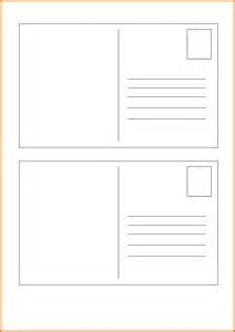 Postcard Print Template by 6 Postcard Template Free Itinerary Template Sle