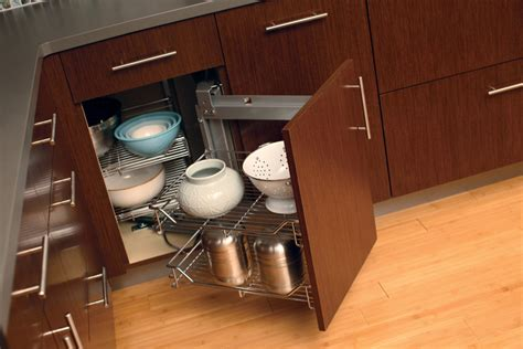 Storage Solutions For Corner Kitchen Cabinets with Cardinal Kitchens Baths Storage Solutions 101 Convenient Corner Cabinets