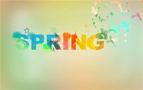 watercolor typography tutorial spring floral typography text effects psddude