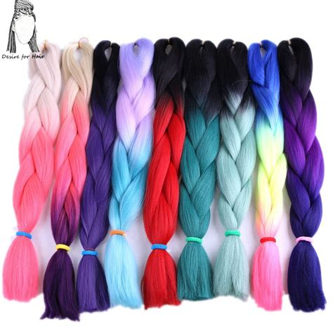 grey synthetic hair for braiding desire for hair 14packs 24inch 100g jumbo ombre braiding