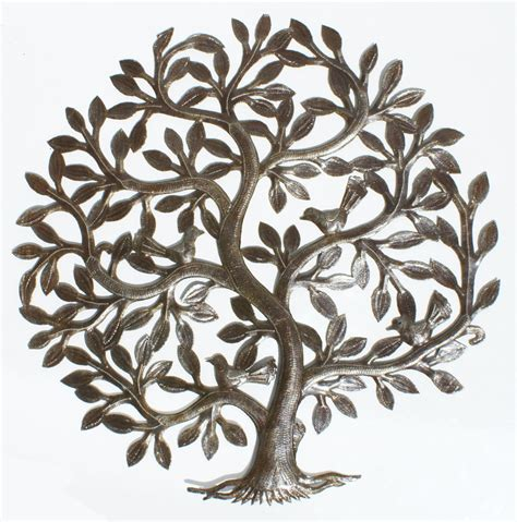 tree of wall decoration branch shells home metal