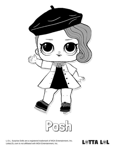 Posh Coloring Page Lotta LOL | Coloring pages, Lol dolls