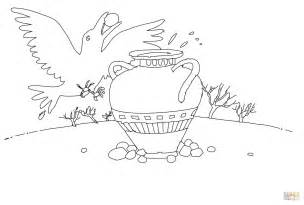 Thirsty Crow Coloring Page  Free Printable Pages sketch template