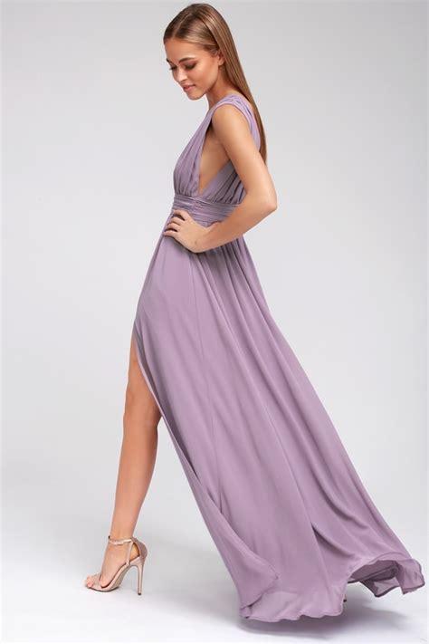 Afikha Dusty Maxi 1 dusty purple gown maxi dress sleeveless maxi dress
