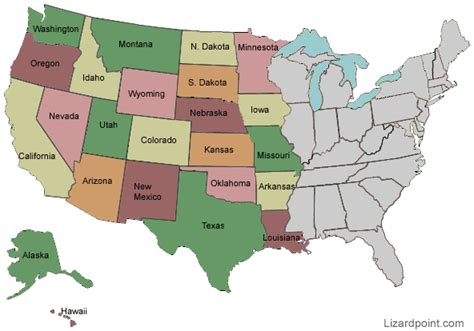 map usa west test your geography knowledge western usa states