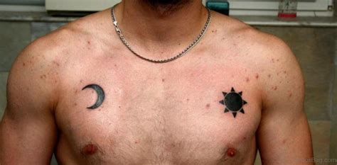 small sun and moon tattoo 63 adorable moon tattoos for chest