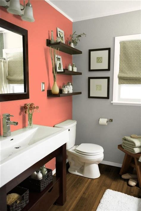 bathroom wall colors 30 grey and coral home d 233 cor ideas digsdigs