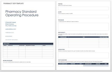 company sop template standard operating procedures templates smartsheet
