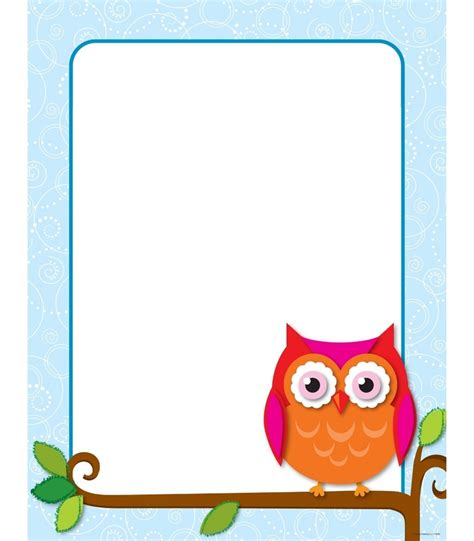printable owl holding a card from template large 172 best borders and designs images on owls