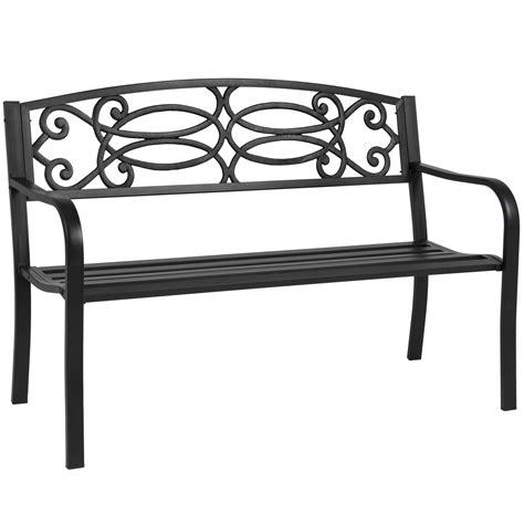outdoor bench frames bcp 50 quot outdoor patio garden bench steel frame park yard
