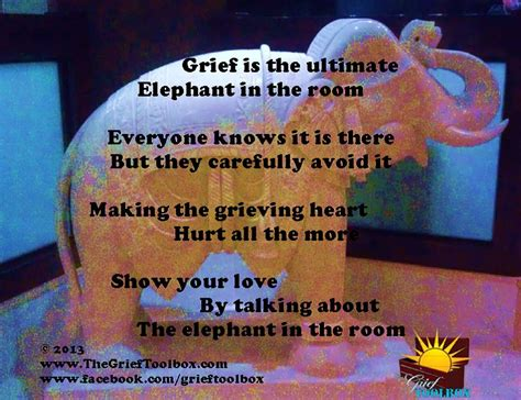 There Is An Elephant In The Room Poem by Elephant In The Room A Poem The Grief Toolbox