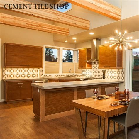 mid century modern kitchen backsplash kitchen backsplash cement tile shop