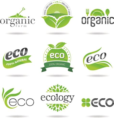 Eco With Natural Logos And Labels Vector Free Vector In Encapsulated Postscript Eps Eps Eco Vectors Photos And Psd Files Free