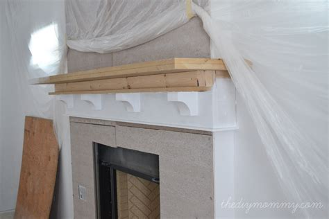 Building A Mantel On A Brick Fireplace by Building Our Fireplace The Diy Mantel Our Diy House