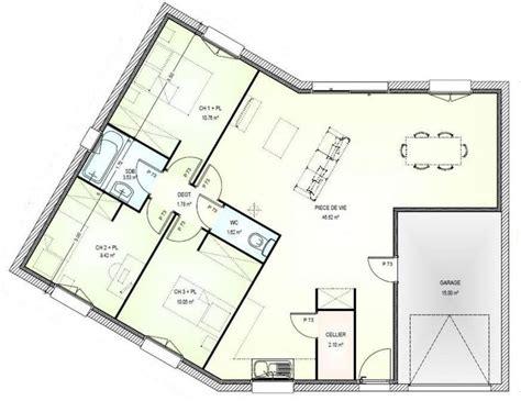 plan maison plein pied 4 chambres 17 best ideas about plan maison plein pied on