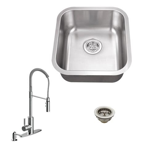 stainless steel one bowl kitchen sink all in one undermount stainless steel 16 125 in single