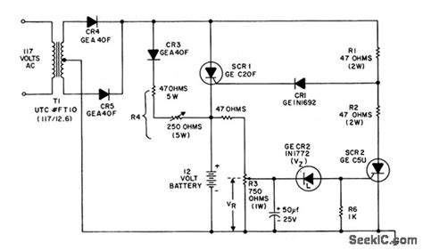 scr controlled battery charger circuit diagram scr controlled battery charger circuit diagram circuit