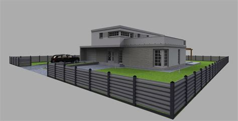 16m x 14m house plan for autocad cad model