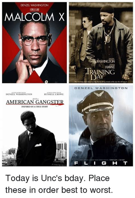 denzel washington malcolm x trailer funny russell crowe memes of 2016 on sizzle animals