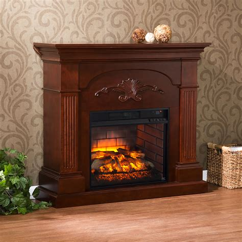 sicilian infrared electric fireplace mantel package in