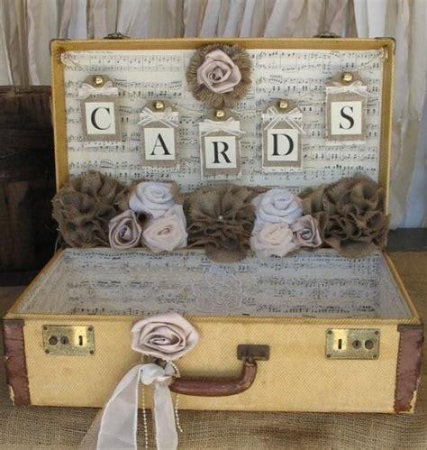 shabby koffer vintage suitcase wedding card holder shabby chic wedding