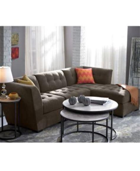 macy s roxanne sectional roxanne fabric 3 piece modular sectional sofa corner unit