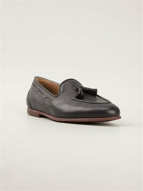 ferragamo loafers ferragamo tassel loafer in black for lyst