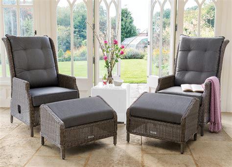 kettler palma classic weave recliner  footstool set