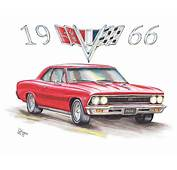 1966 Chevrolet Chevelle Ss At Night Drawing By Shannon Watts