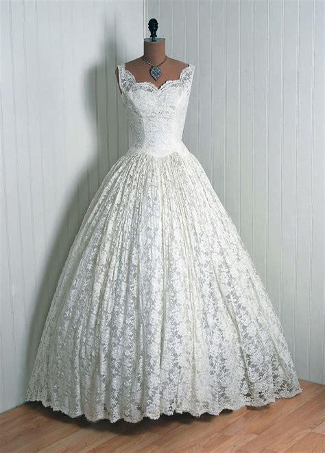 1950 lace wedding dresses gorgeous 1950s wedding dress vintage vault pinterest
