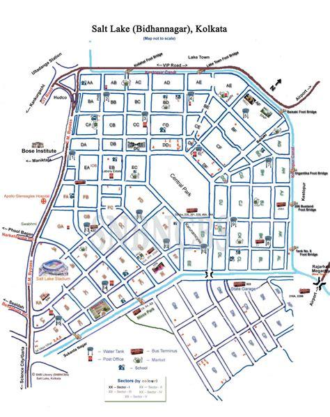 salt lake city map salt lake bidhannagar kolkata