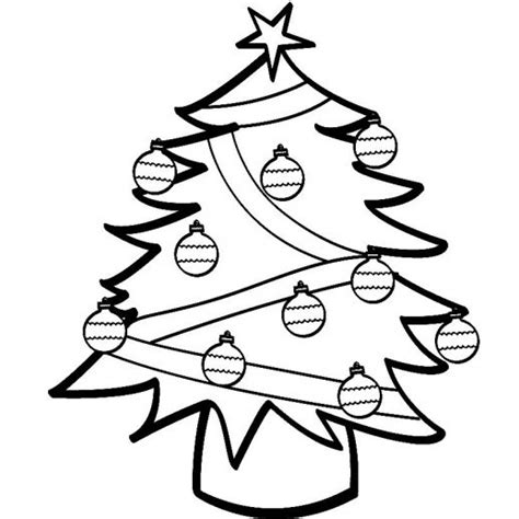 basic christmas tree coloring page simple christmas tree with pretty balls decoration