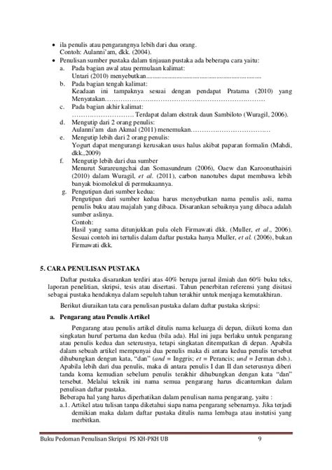 format penulisan skripsi 2014 pedoman penulisan skripsi kedokteran hewan