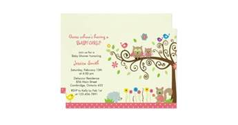 pink owl baby shower invitations zazzle