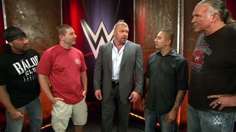 curtain call wwe triple h had fans who filmed the curtain call arrested as