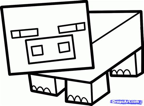 minecraft coloring pages pig how to draw a minecraft pig step by step video game