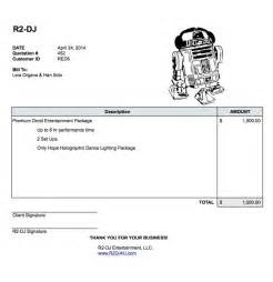 Invoice Template For Dj Services by Dj Invoices Templates Studio Design Gallery Best